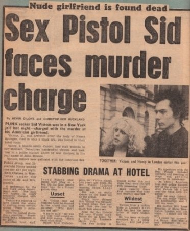 Sex Pistol Sid faces murder charge.