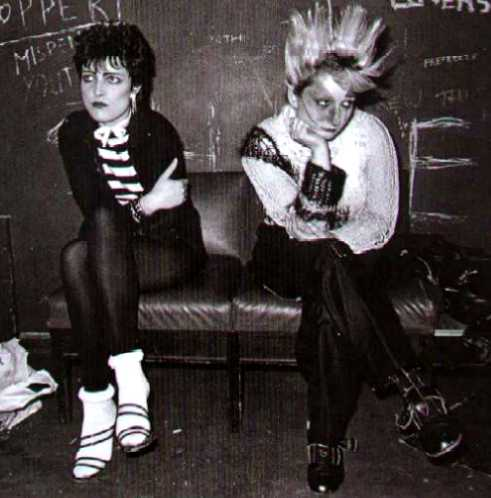 Siouxsie Sioux (left) and Jordan.