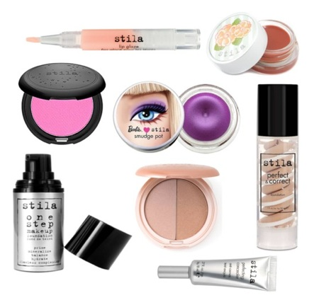 A Stila Cosmetics collage.