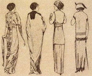A vintage fashion illustration.