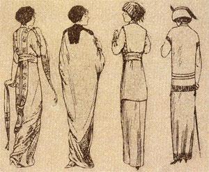 A vintage fashion illustration.