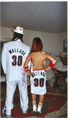 Two ghetto prom outfits.